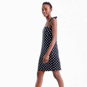 J. Crew Black and White Polka Dot Dress